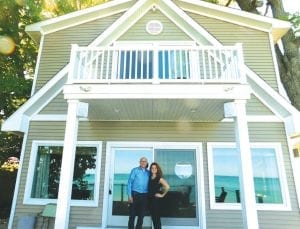 Terry and Sarah Stone of Stone Builders built this full-two story beach house on 50 feet of Lake Huron frontage in 2016. The 2,160 square foot, four-bedroom, 3-bath house is at 2830 N. Lakeshore Road in Forester Township. Called 'The Park House,' the home sits on 0.15 acres of land and is listed for $469,000. The property and two others will be featured on the 'Beach House Hunters' program to be aired Sunday, June 16 at 9:30 p.m. on HGTV. Photo by Steven Kovac